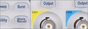 Générateur de fonctions DDS 120MHz et arbitraire vrai (75Mech/s), 2 voies