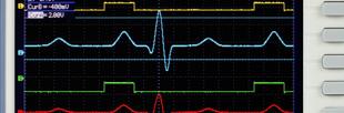 Oscilloscope numérique 100MHz, 2 voies, compact, mémoire étendue 2Mpoints
