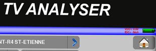 Mesureur de champ terrestre (DVB-T, DVB-T2), câble (DVB-C) et satellite (DVB-S, DVB-S2), décodage MPEG4 (H264) et HEVC (H265)