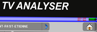 Mesureur de champ terrestre (DVB-T, DVB-T2), câble (DVB-C) et satellite (DVB-S, DVB-S2), décodage MPEG4 (H264), HEVC (H265), WiFi, GPS, TS-ASI, IPTV, CAM DVB-CI, entrée optique
