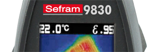 Thermal camera, -30 to +650 C