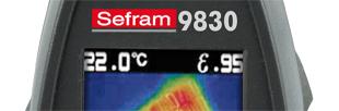 Caméra infrarouge pyromètre, -30 à +650 degrés