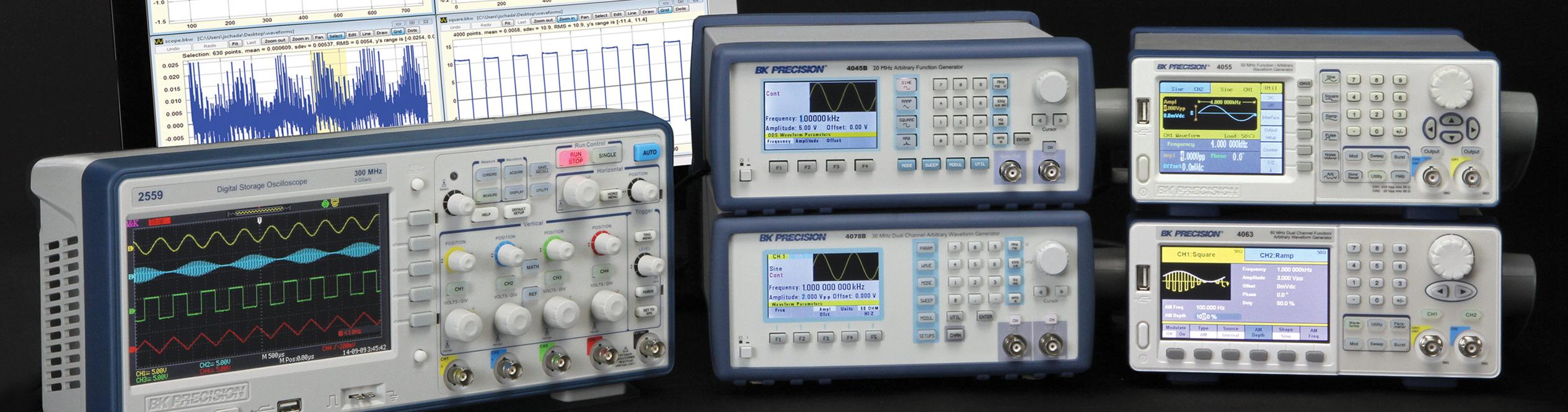 Dual Channel Function Arbitrary Waveform Generators Bk Precision Signal Generator Solutions