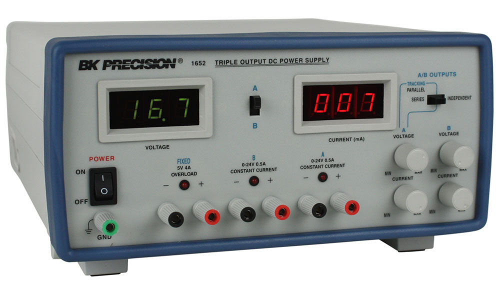 Model 1652, Triple Output DC Power Supplies - B&K Precision