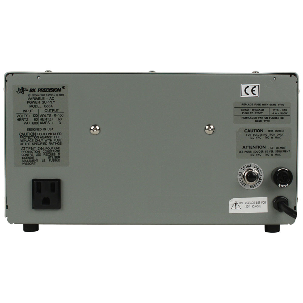 Discontinued Model 1653A, AC Power Supplies - B&K Precision