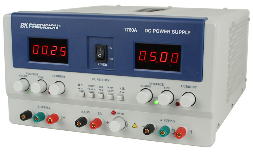 176x_left_lrg model 1760a, triple output dc power supplies b&k precision Homemade Benchtop Power Supply at reclaimingppi.co