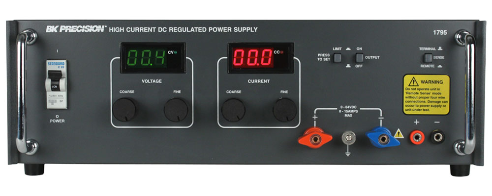 discontinued model 1795 high current dc power supply 0 64v 0 15a rh bkprecision com diy high current variable dc power supply build high current dc power supply