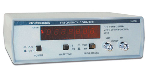 Basic Frequency Counter : Model d mhz frequency counter b k precision