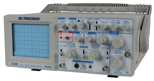 Oscilloscope Y Axis : Discontinued model b mhz dual trace analog