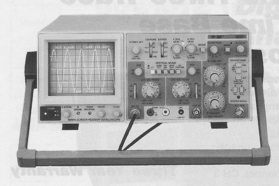 Model 2260 Front