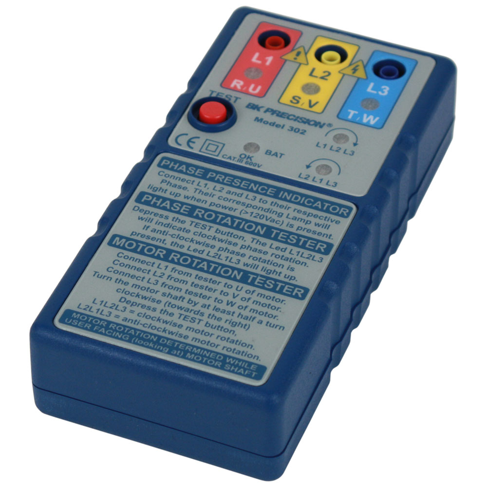 Model 302, Phase & Motor Rotation Meter - B&K Precision