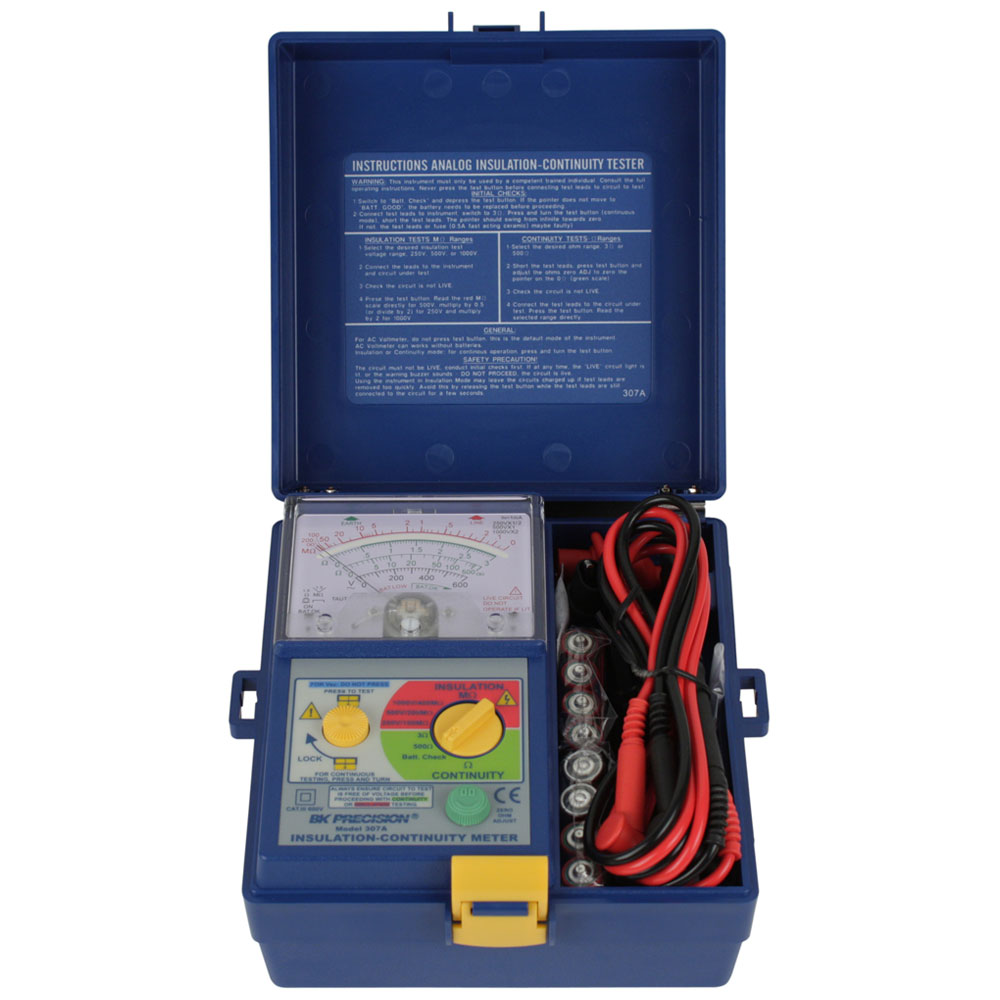Model 307a Analog Insulation Continuity Meter Bk Precision Short Circuit Finder Electronics Repair And Technology News Left