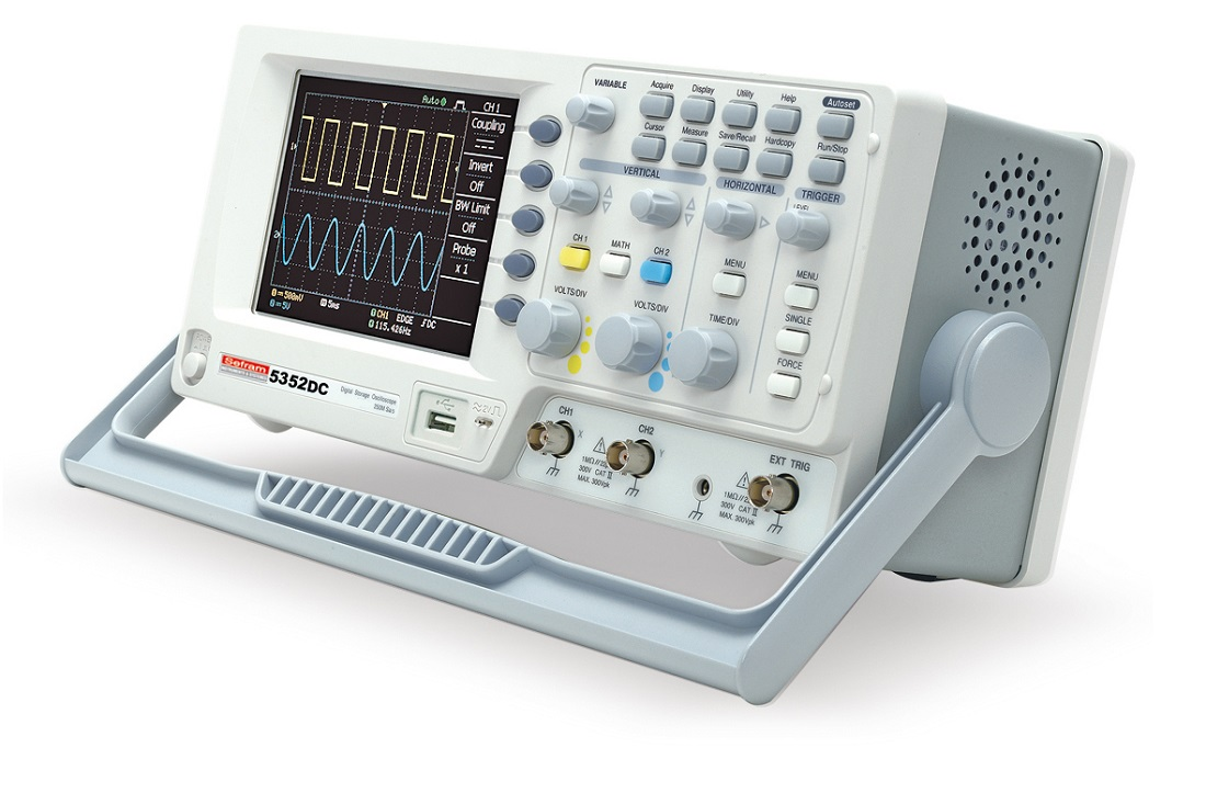 Model 5352dc Digital Oscilloscope 2 Channels 50mhz Compact Sefram Control Pannel Front