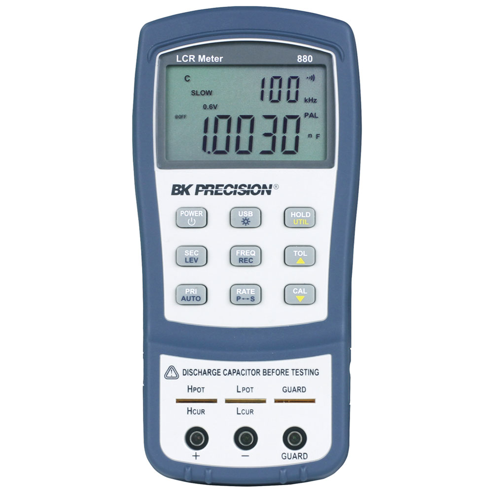 Model 880 40000 Count Dual Display Handheld Lcr Meters Bk Precision Inductance Meter Circuit Front