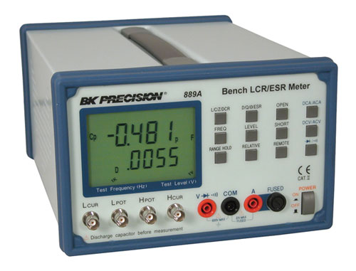 discontinued model 889a, bench lcr esr meter with component testermodel 889a front